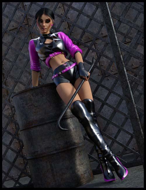 dForce Latex Outfit Genesis 8 Female(s)