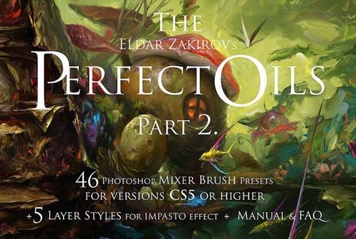 Cubebrush - The Perfect Oils. Part 2 - 46 Mixer Brushes