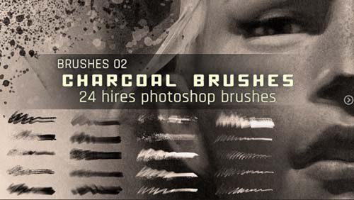 Artstation - Realistic Charcoal Photoshop Brushes - St?phane Wootha