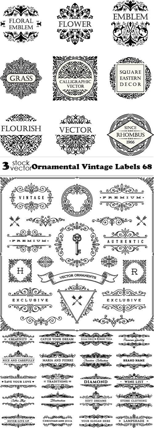 Ornamental Vintage Labels 68