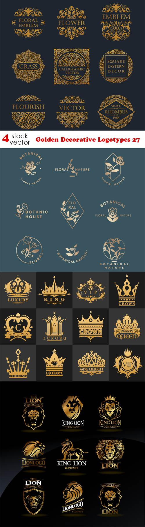 Golden Decorative Logotypes 27