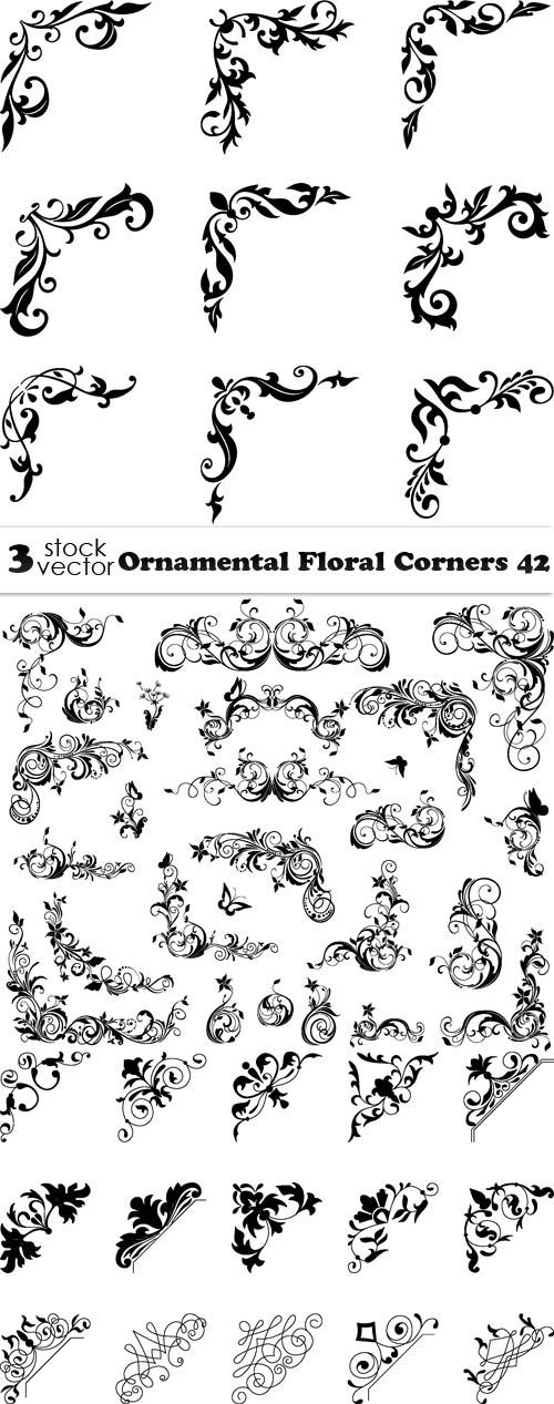 Ornamental Floral Corners 42