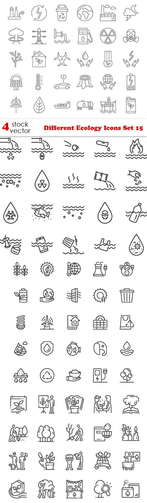 Different Ecology Icons Set 15