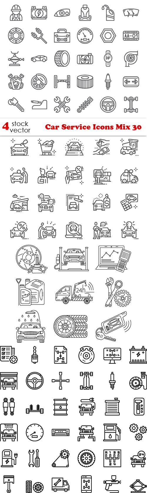 Car Service Icons Mix 30