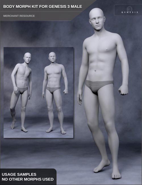 Body Morph Kit for Genesis 3 Male and Merchant Resource