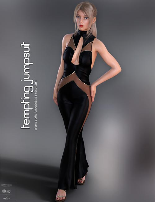 dForce Tempting Jumpsuit for Genesis 8 Females