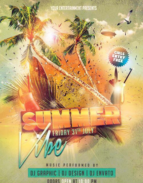 Summer Vibe psd flyer template