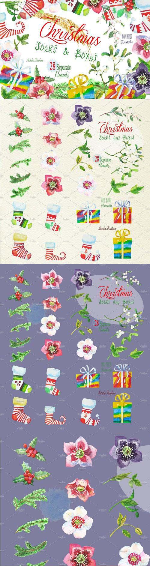 Christmas Socks and Boxes - 1127957