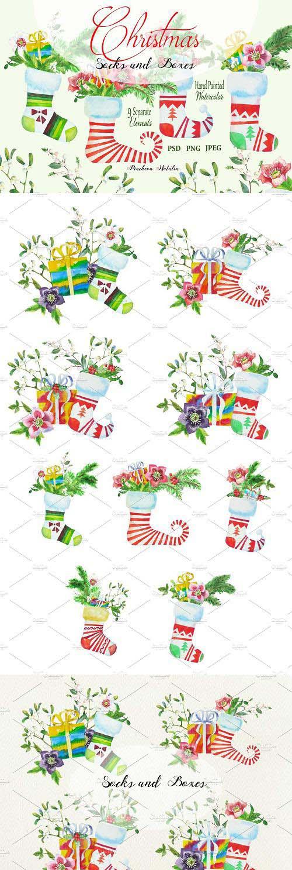 Christmas Socks and Boxes - 1128411