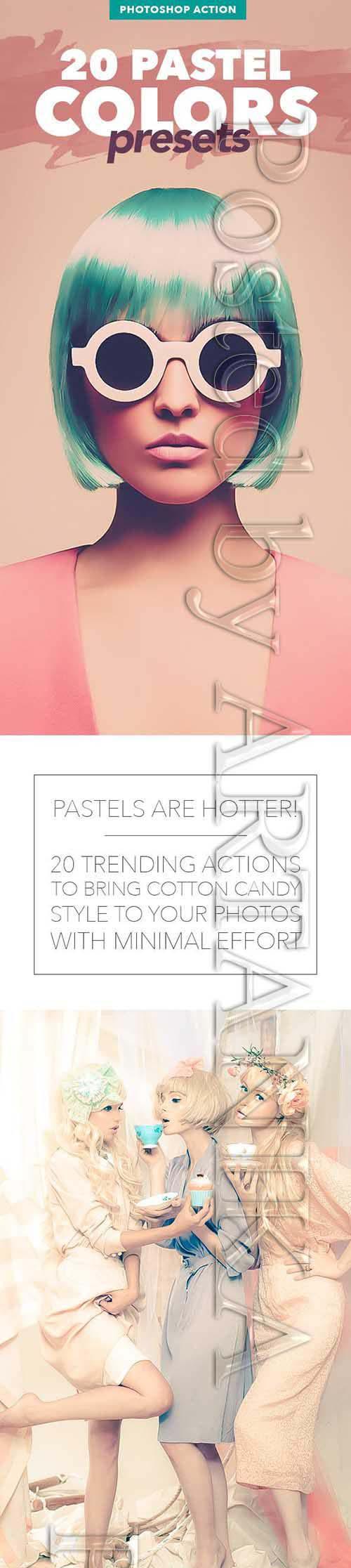 20 Pastel Colors Presets - Photoshop Action 12017470