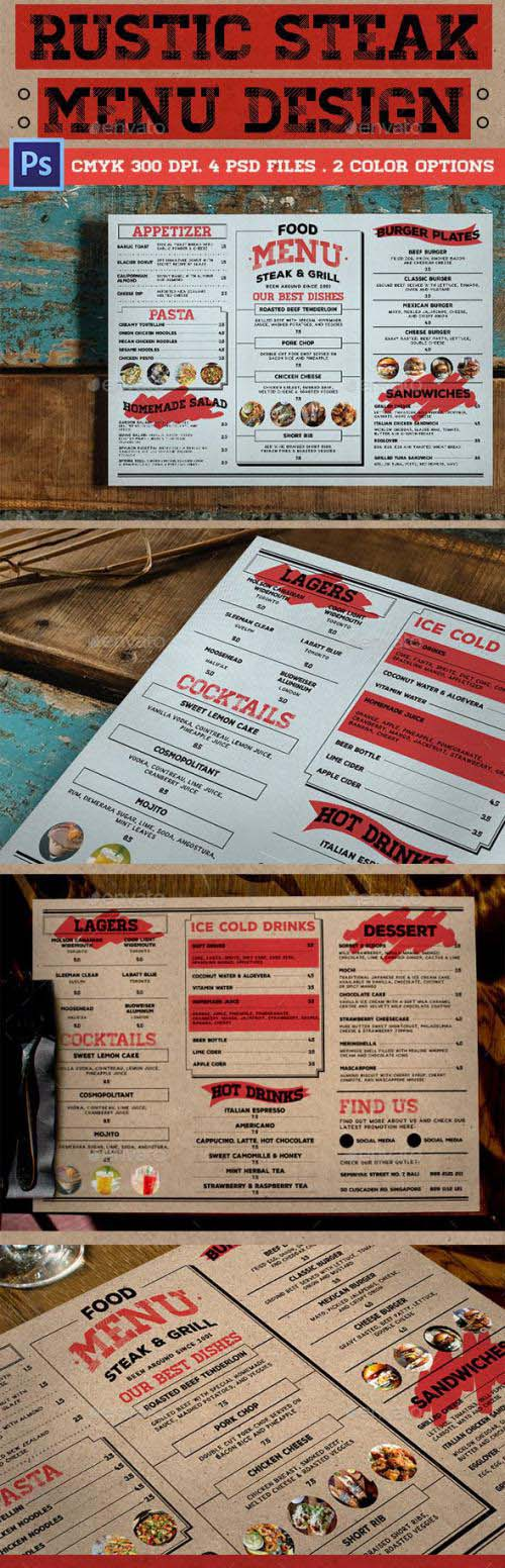 Rustic Steak Menu - 16075567