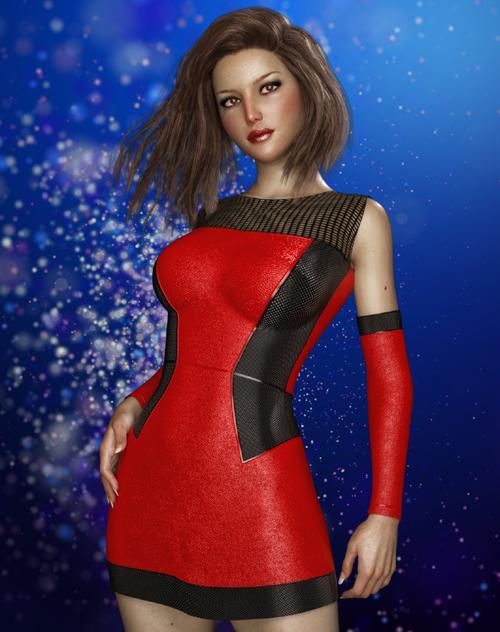 JMR Elegant Leather Dress for G3F and G8F