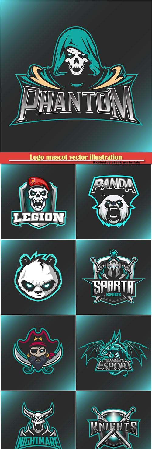 Logo mascot vector illustration