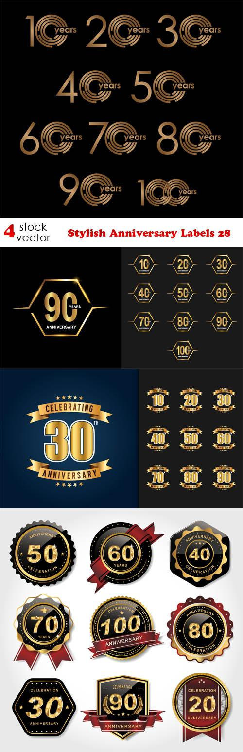 Stylish Anniversary Labels 28