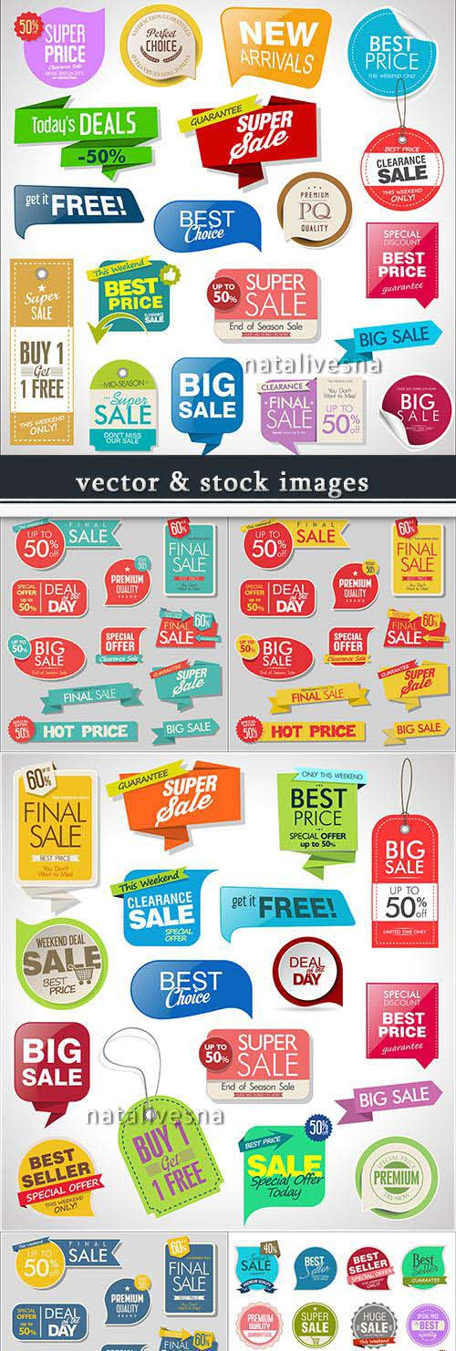 Special offer tags and sale banner templates design