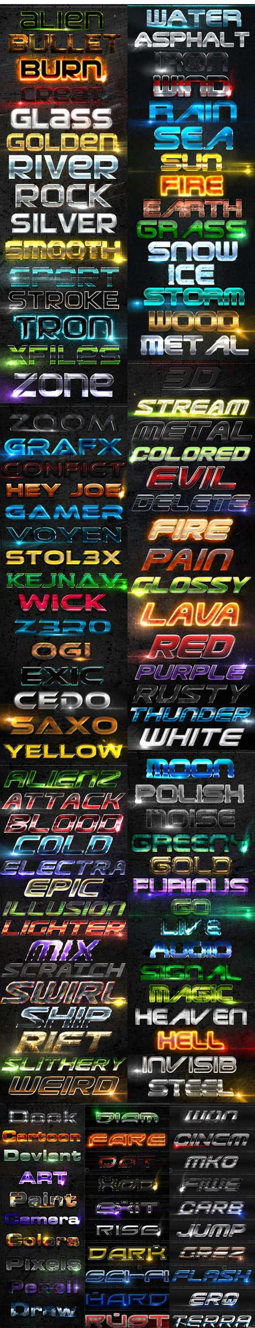 132 Awesome Text Effects & Styles for Photoshop