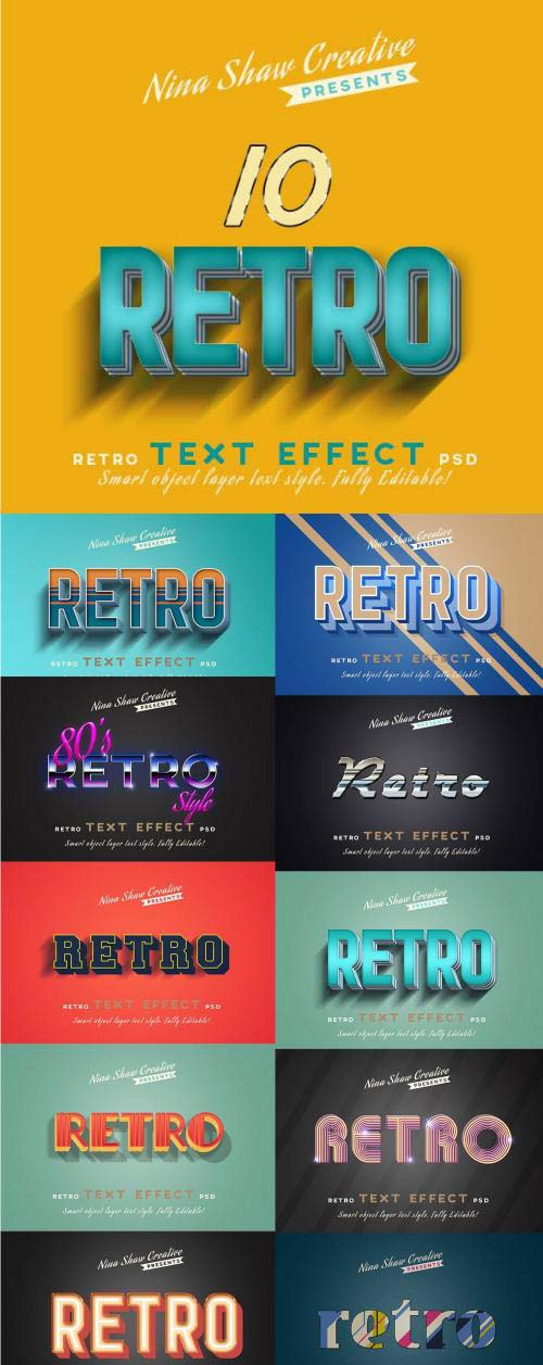 Retro Vintage Text Effects - 23733346