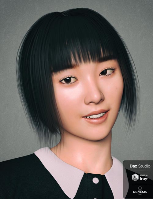 Kim TaeYeon Character and Hair for Genesis 8 Female