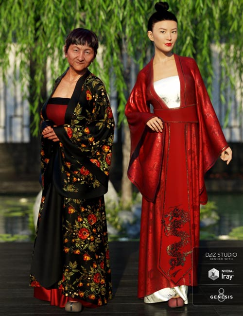 dForce Palace Robes Textures