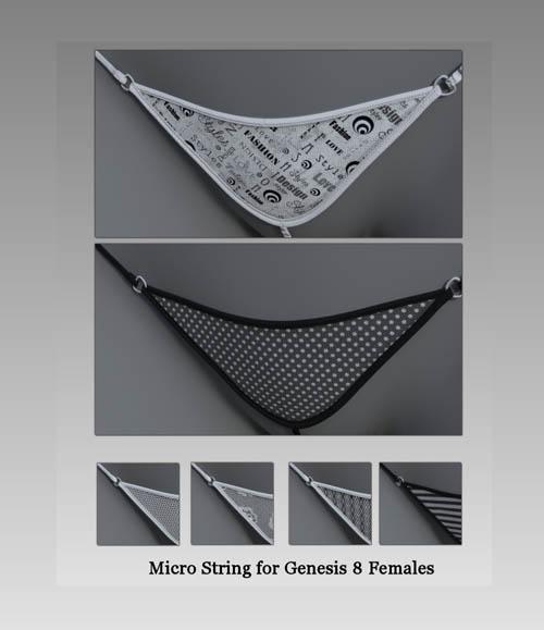 Micro String for Genesis 8 Female