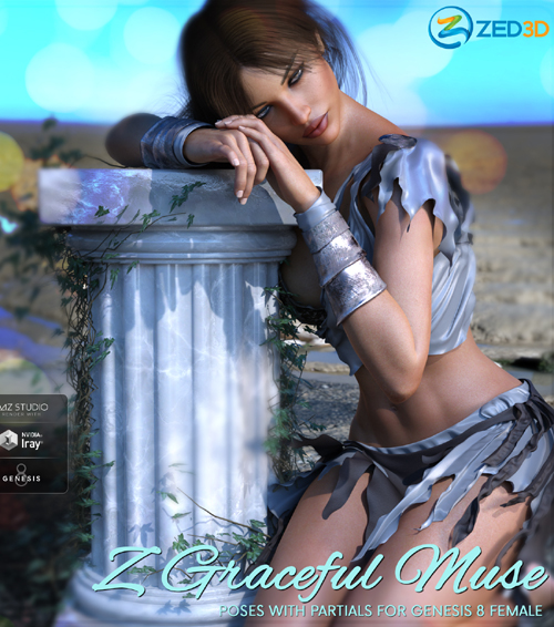 Z Graceful Muse - Poses and Partials for Genesis 8 Female