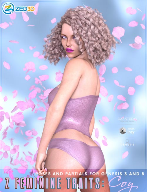Z Feminine Traits: Coy Poses for Genesis 3 and 8 Female