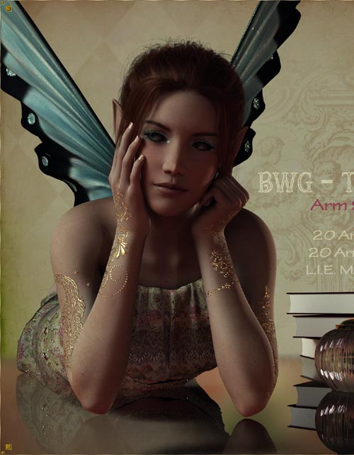 BWG - Tattoos, Arm Serie for G3-G8 - DAZ Studio