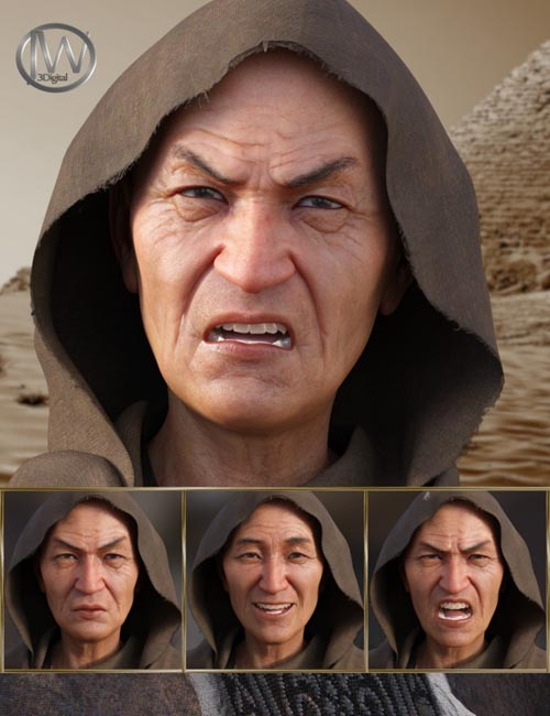 Wise - Expressions for Genesis 8 Male and Mr Woo 8