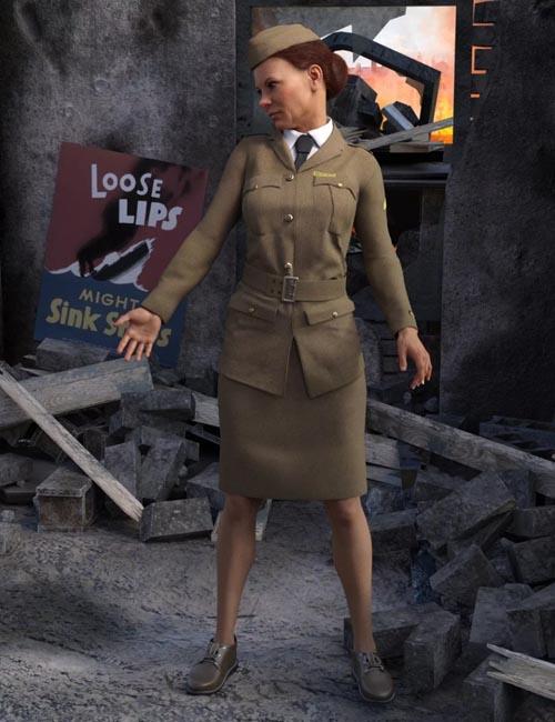 Blitz Girl Uniform for Genesis 8 Female(s)