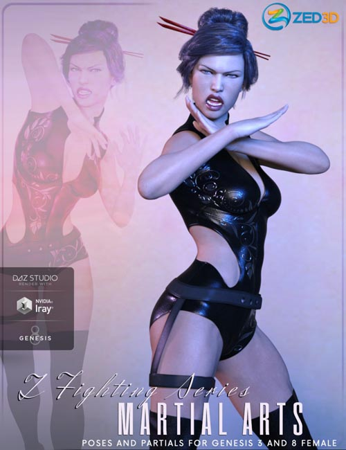 Z Fighting Series : Martial Arts - Poses and Partials for Genesis 3 and 8 Female