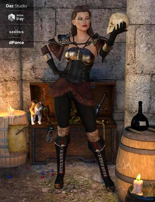 dForce Blackwater Guild Outfit for Genesis 8 Female(s)