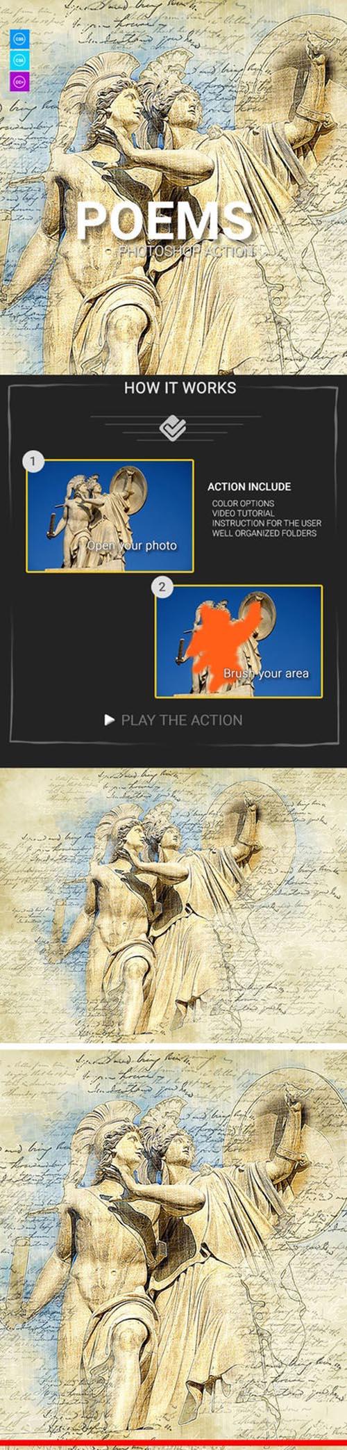 Poems Photoshop Action 21122966