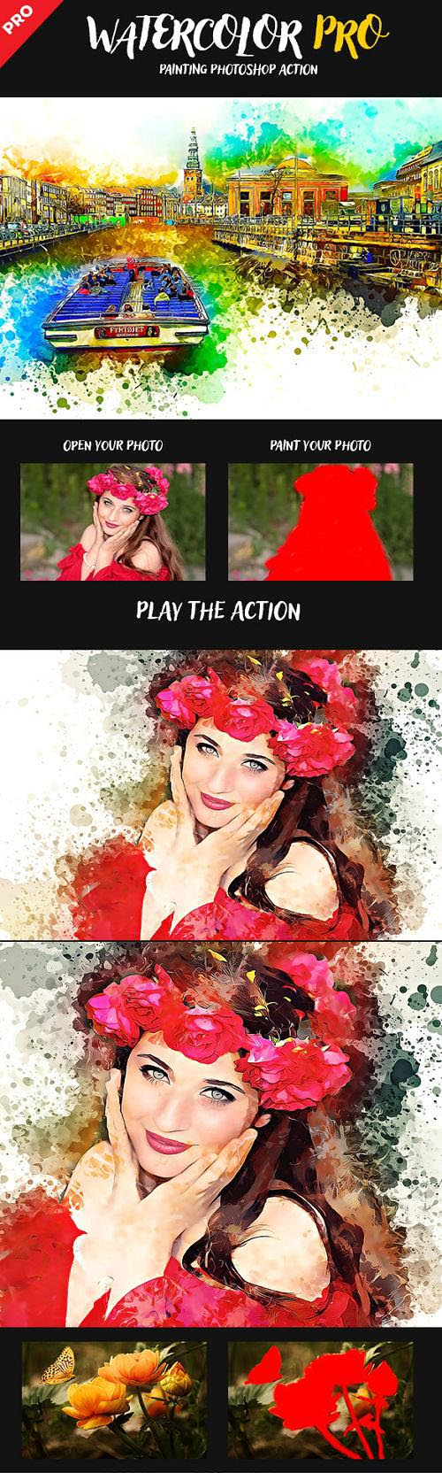 Watercolor Pro Painting Photoshop Action 22840711