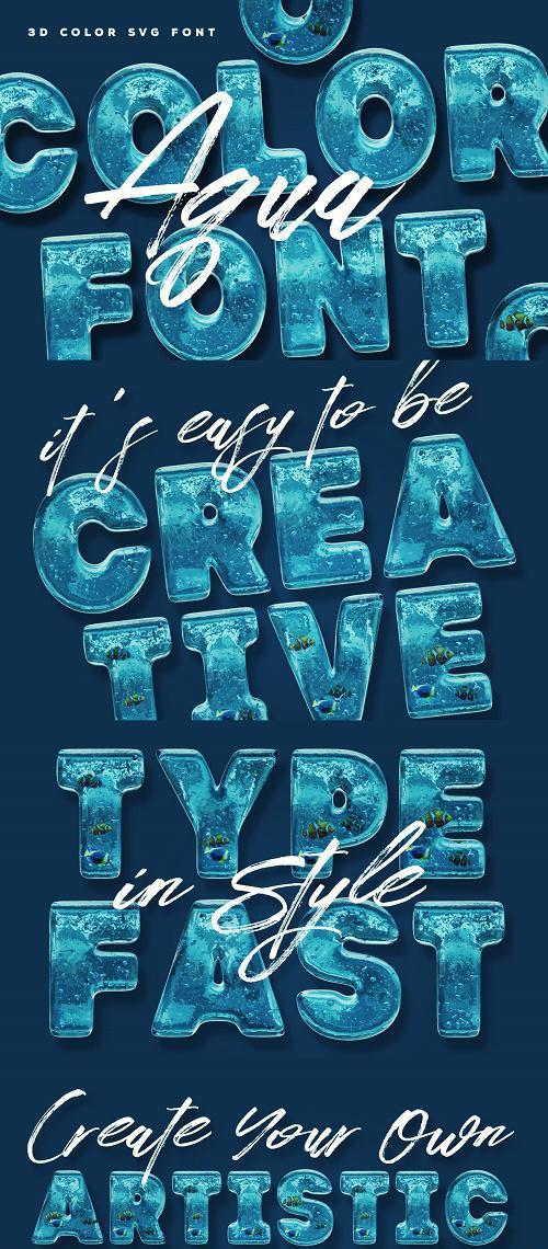 Aqua Color Font