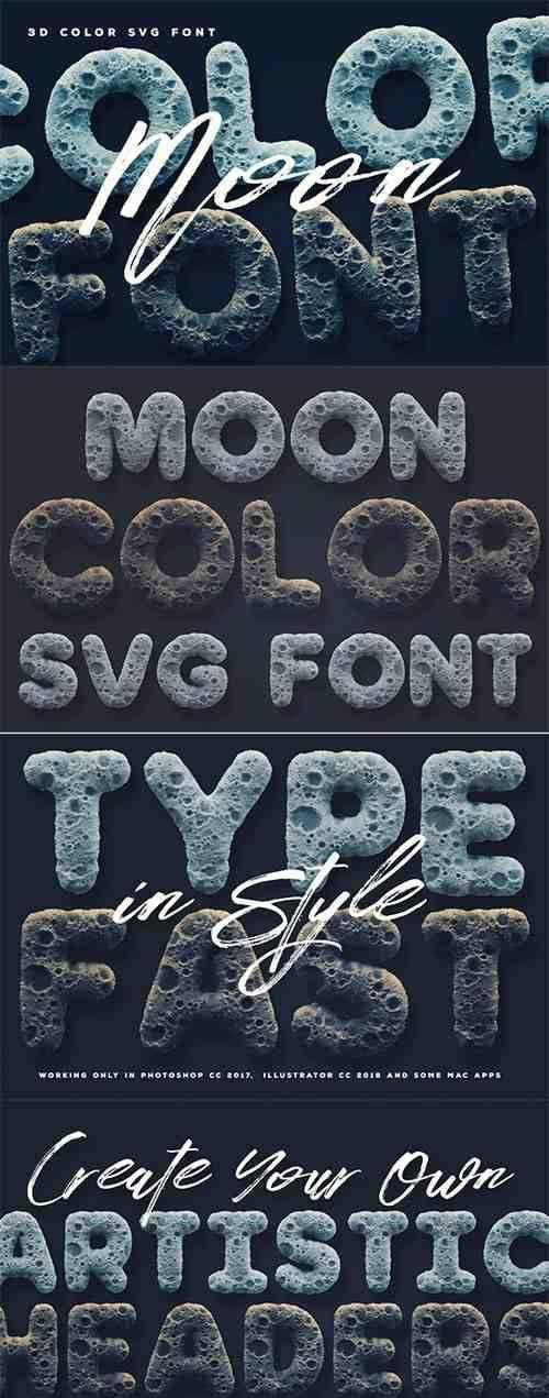 Moon Color Font