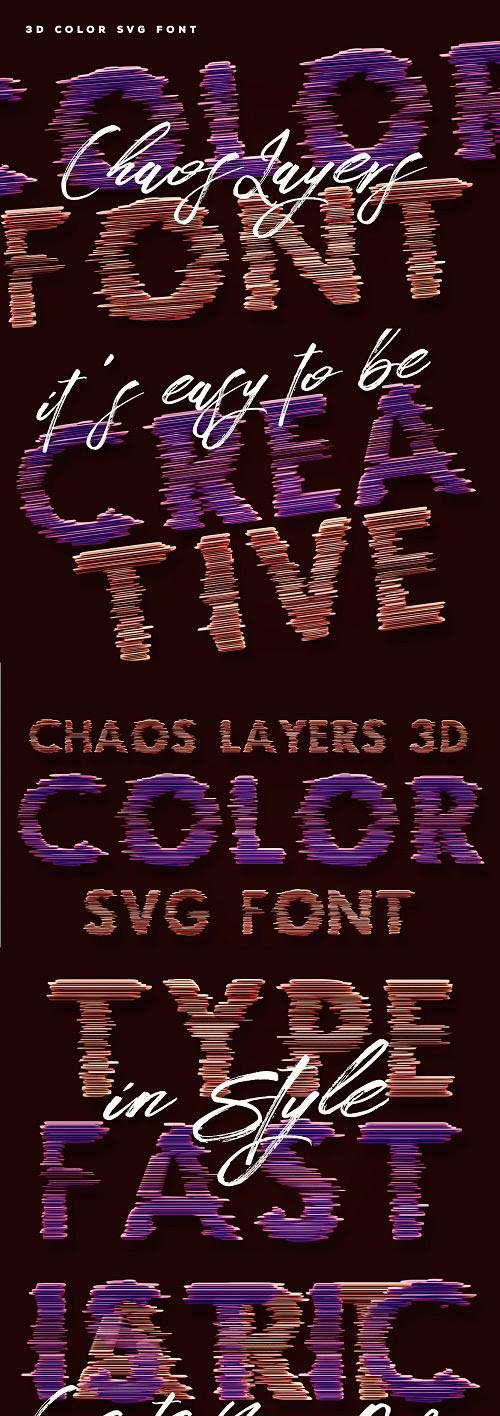 Chaos Layers Color Font