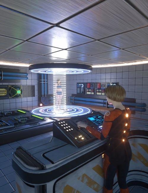 Sci-Fi Transporter Room