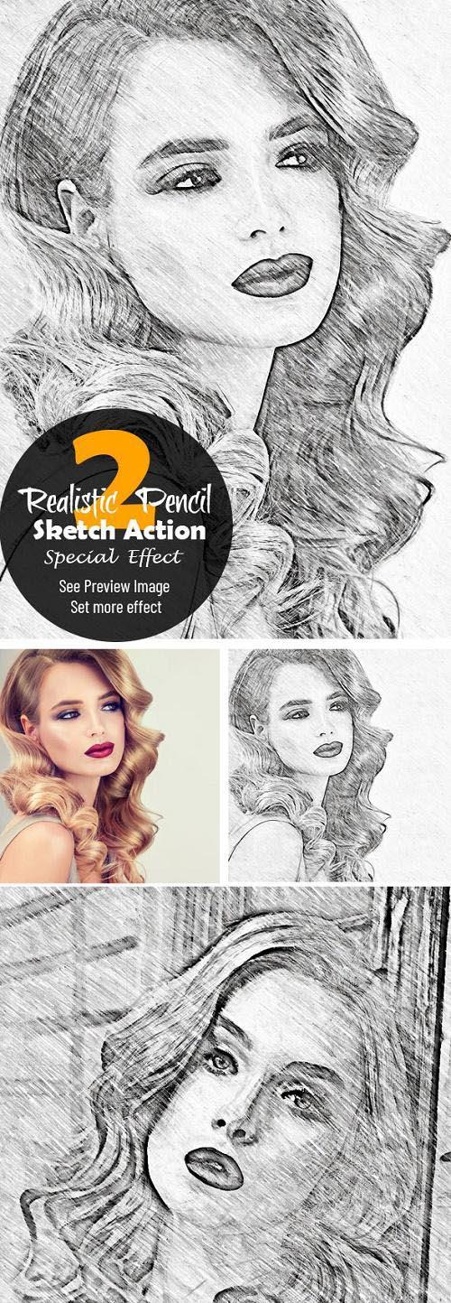 Realistic Pencil Sketch Action 2 23766201