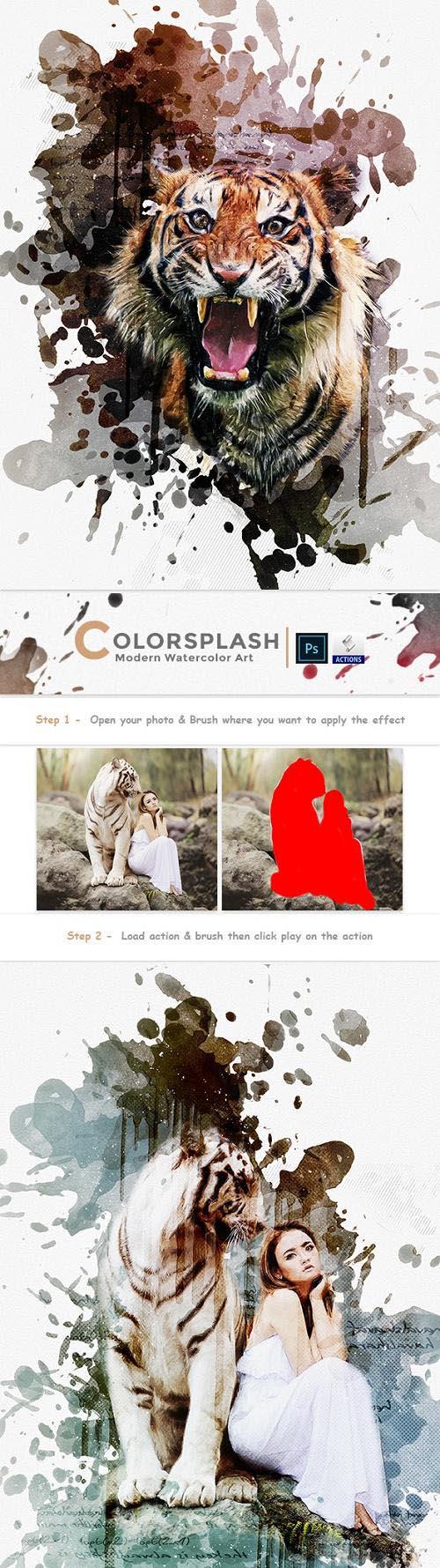 Colorsplash - Modern Watercolor Art 23785768