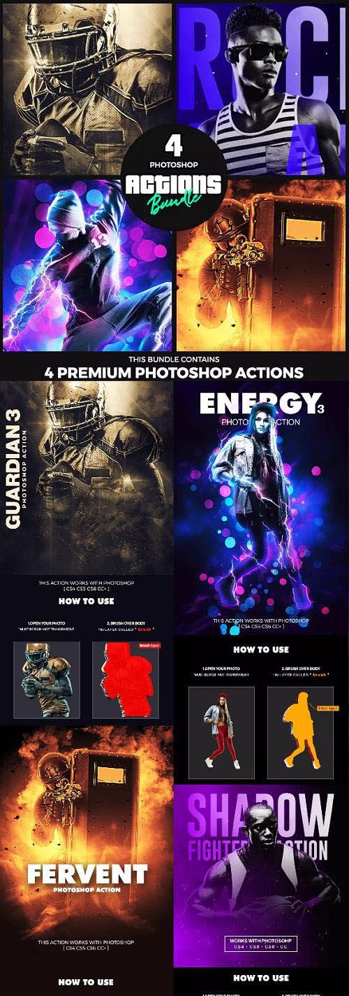 4 Photoshop Actions Bundle - Feb19 - 23246361
