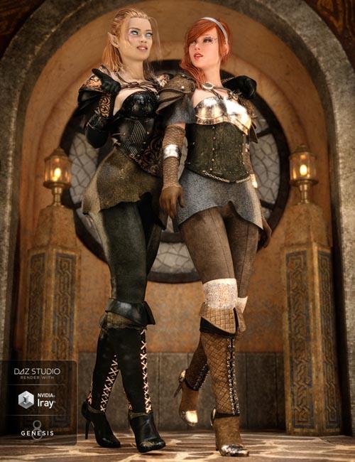 dForce Blackwater Guild Outfit Textures