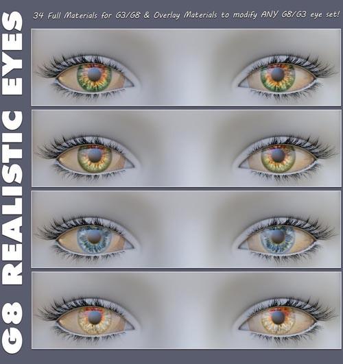 Angela3Ds Realistic Genesis 8 Eyes