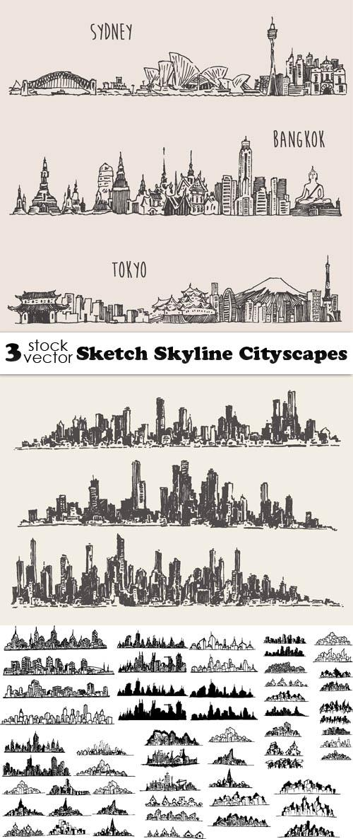 Sketch Skyline Cityscapes
