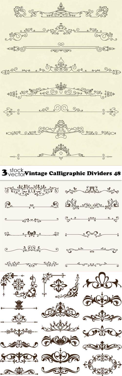 Vintage Calligraphic Dividers 48