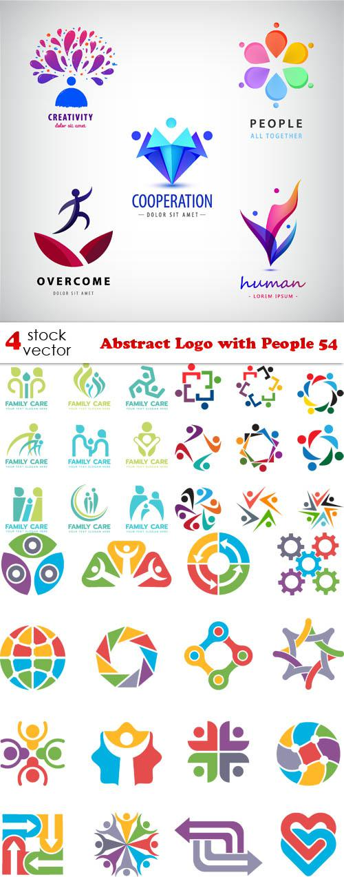 Abstract Logo with People 54