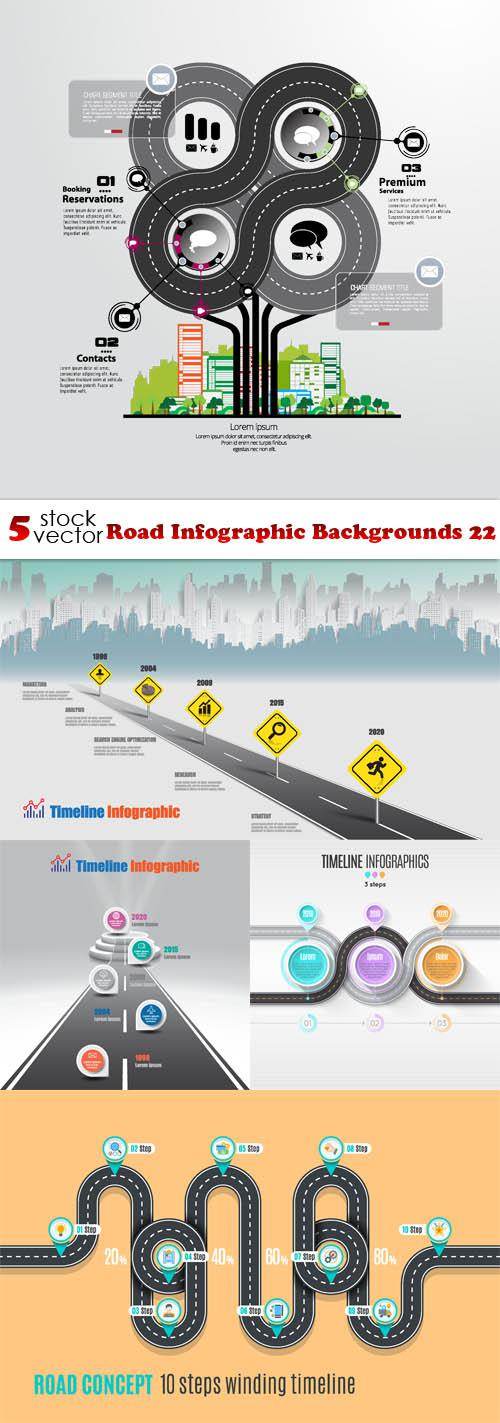Road Infographic Backgrounds 22