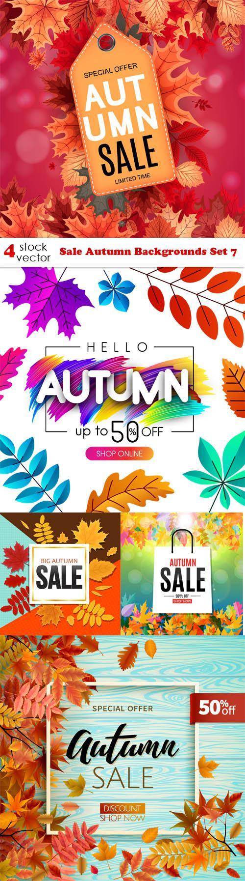 Sale Autumn Backgrounds Set 7