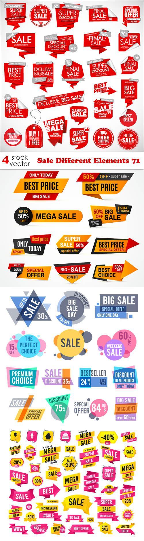 Sale Different Elements 71