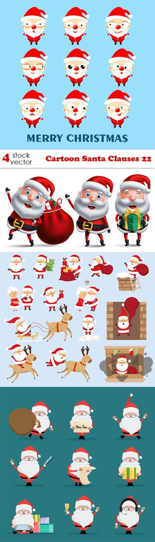 Cartoon Santa Clauses 22