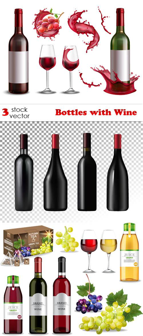 Bottles with Wine